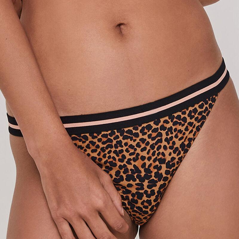 Culotte en micro print léopard leopoldiz;