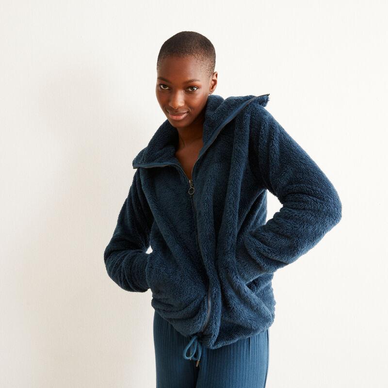 veste polaire zippée - bleu;