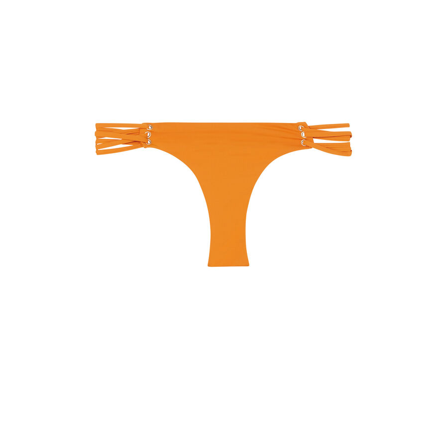 Bas de maillot de bain orange fusioniz;