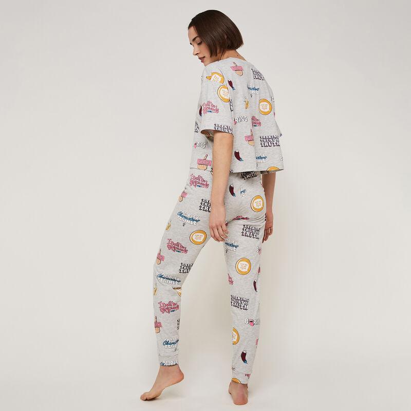 pantalon à imprimé aopiz;
