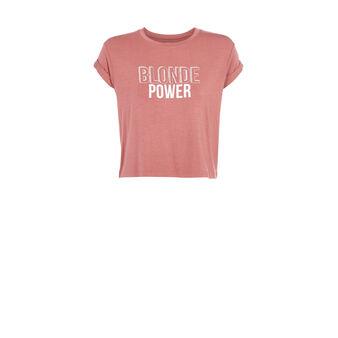 Blondemotiz powder pink top pink.