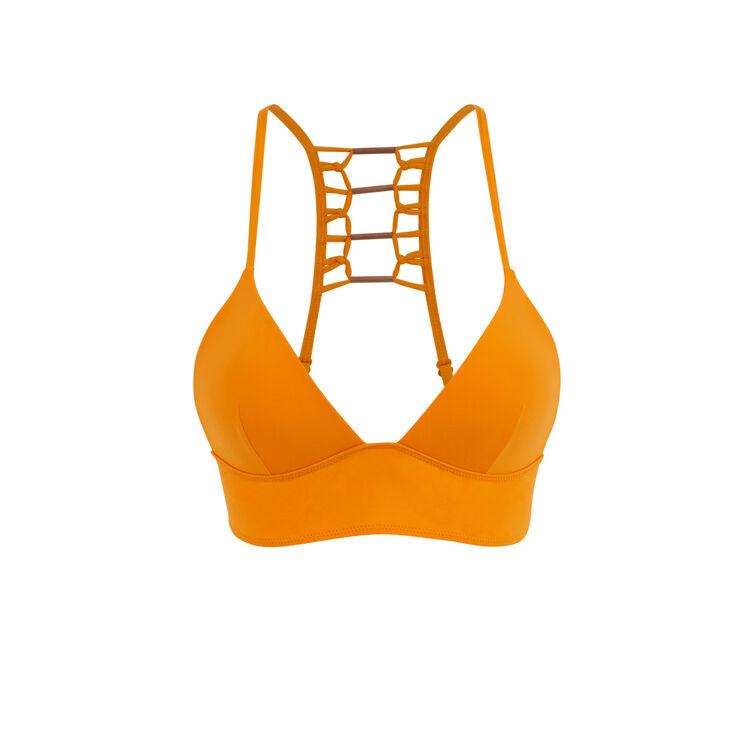 Haut de maillot de bain triangle orange afrotubiz orange.