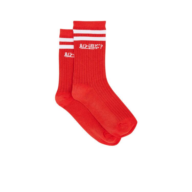 Chaussettes rouges asobimiz;
