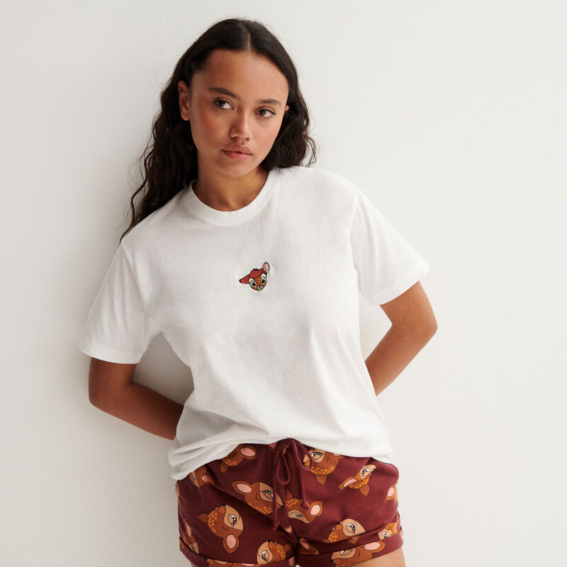 t-shirt bambi - blanc;