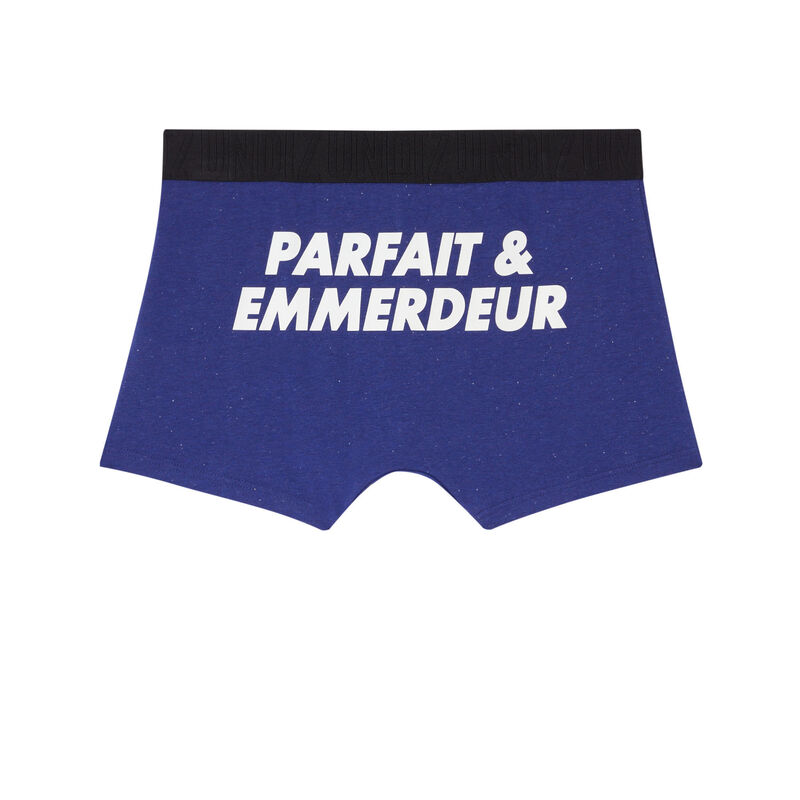 boxer à élastique imprimé undiz - bleu;