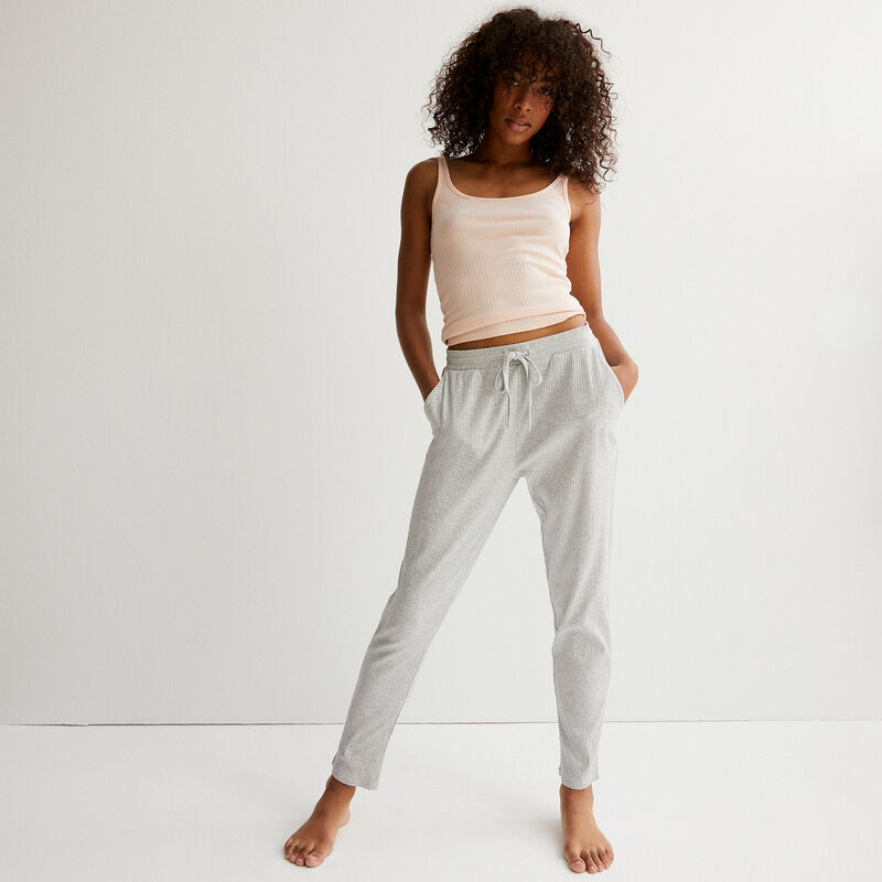 pantalon en jersey - gris clair;