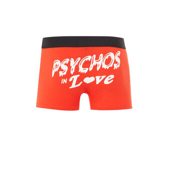 Boxer coton rouge psykiz red.