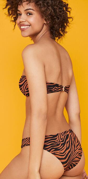 Haut de maillot de bain bandeau marron afrozebriz brown.