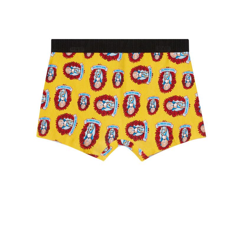 boxer à motifs chiens - jaune;