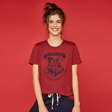 Hogwartiz burgundy harry potter top.