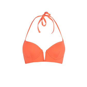 Haut de maillot de bain push orange creoliz orange.