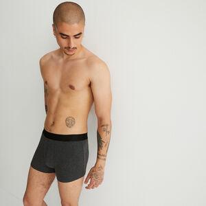 boxer uni coton bio - gris foncé