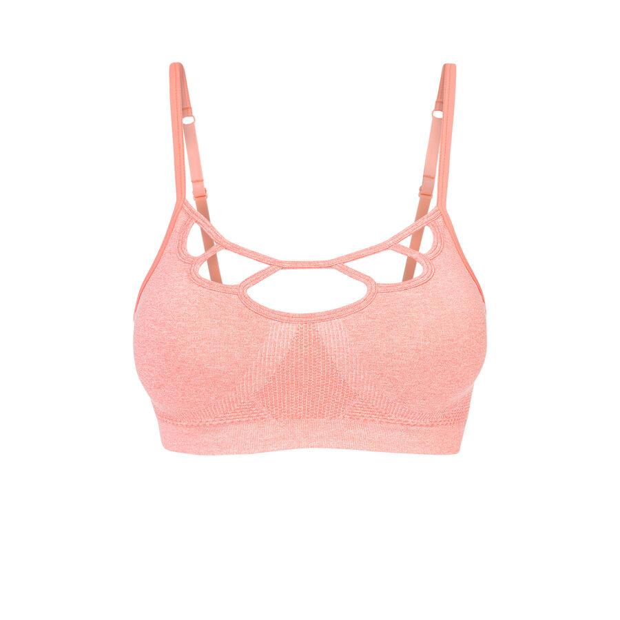 Ronaldiz light pink sports bra;${refinementColor}