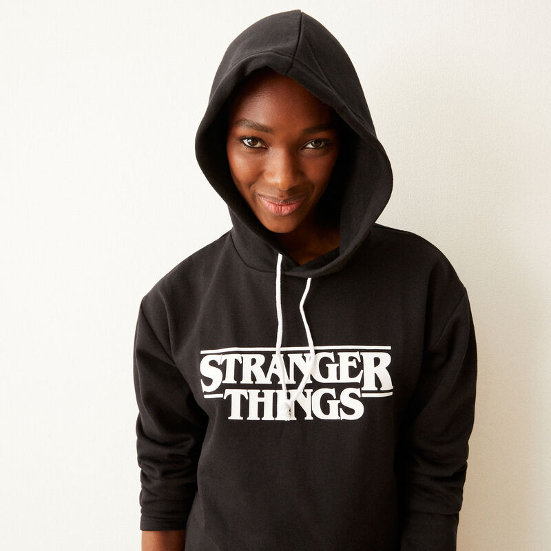 sweat print Stranger Things - noir;