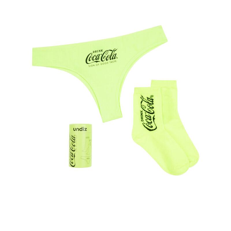Set culotte + chaussettes coca-cola - jaune fluo;