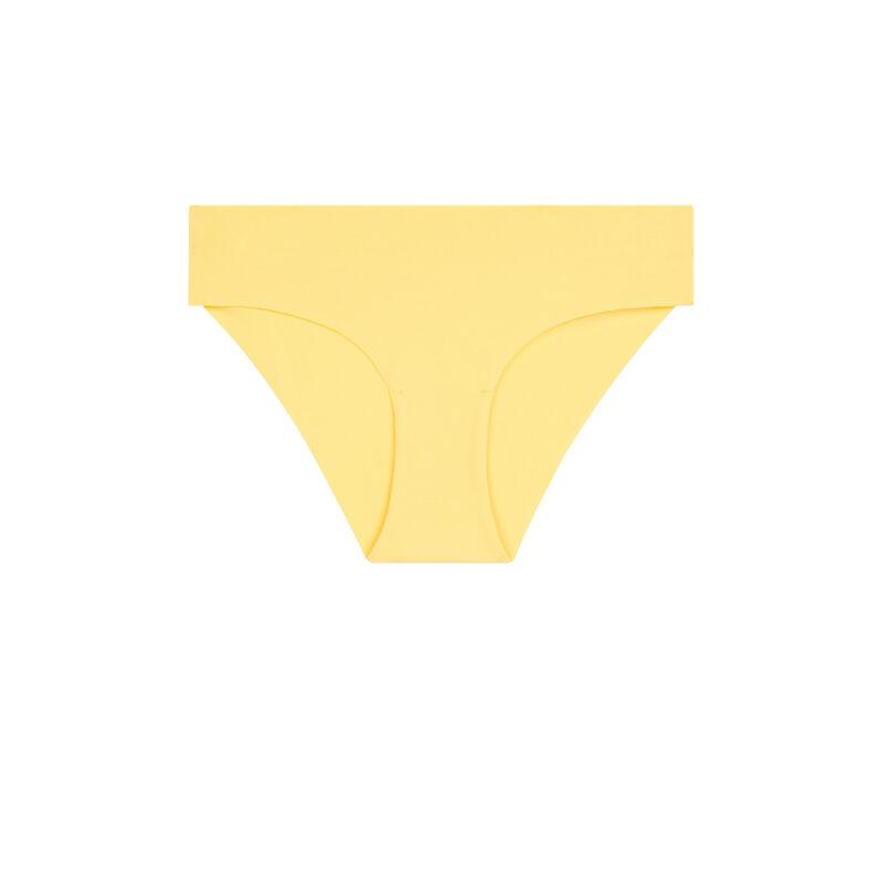 Shorty uni en coton - jaune pastel ;