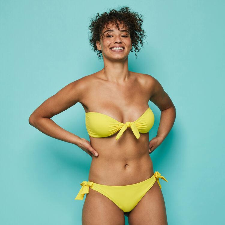 Haut de maillot de bain jaune sexyknotiz yellow.