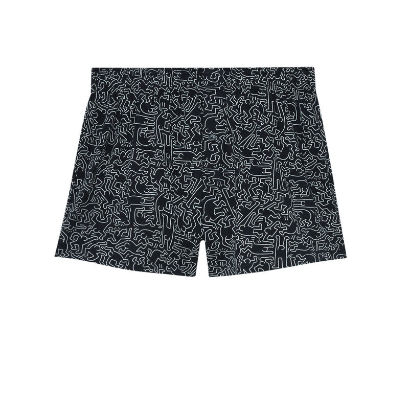 boxer Keith Haring - noir;