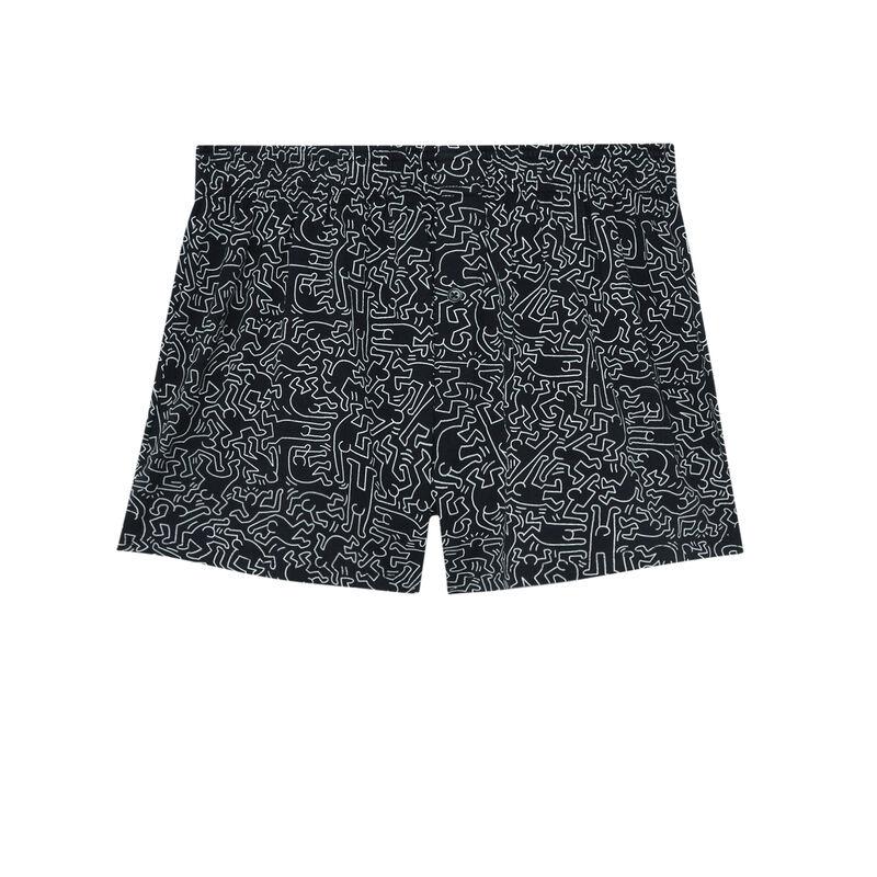 caleçon Keith Haring - noir;