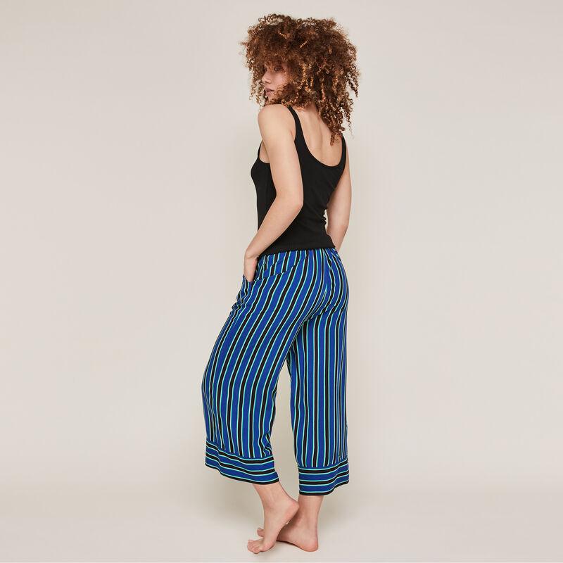 Pantalon à rayures - bleu;