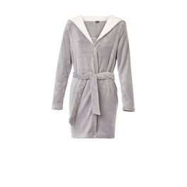 Sobruniz light grey bathrobe grey.