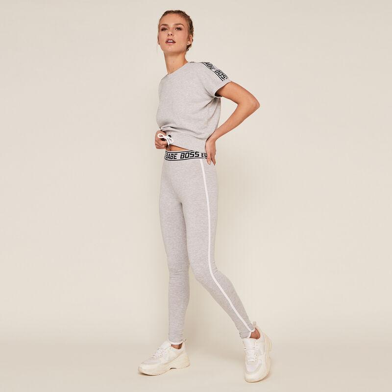 Legging uni en jersey - gris;