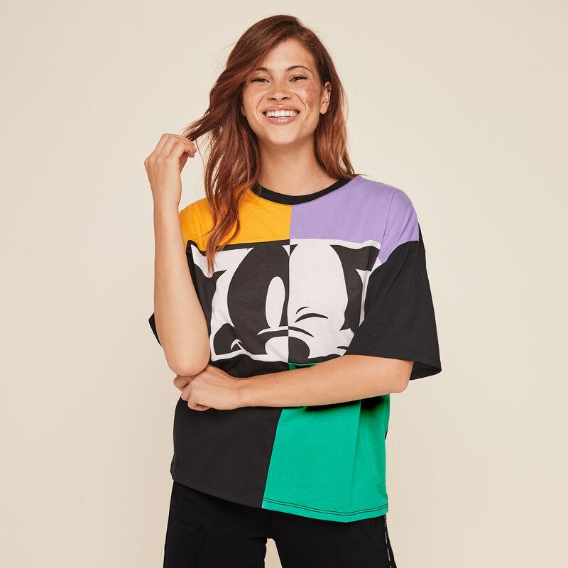 Top en jersey print Mickey combomickiz;