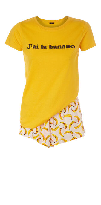 Ensemble de pyjama jaune labananiz  yellow.