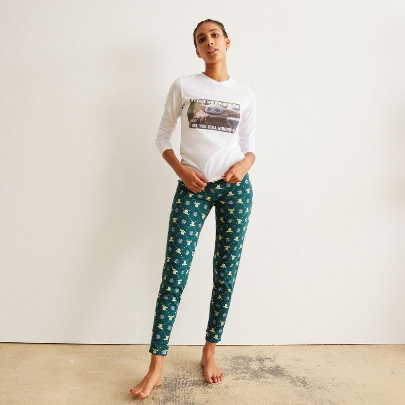 set de pyjama à manches longues baby Yoda - blanc ;
