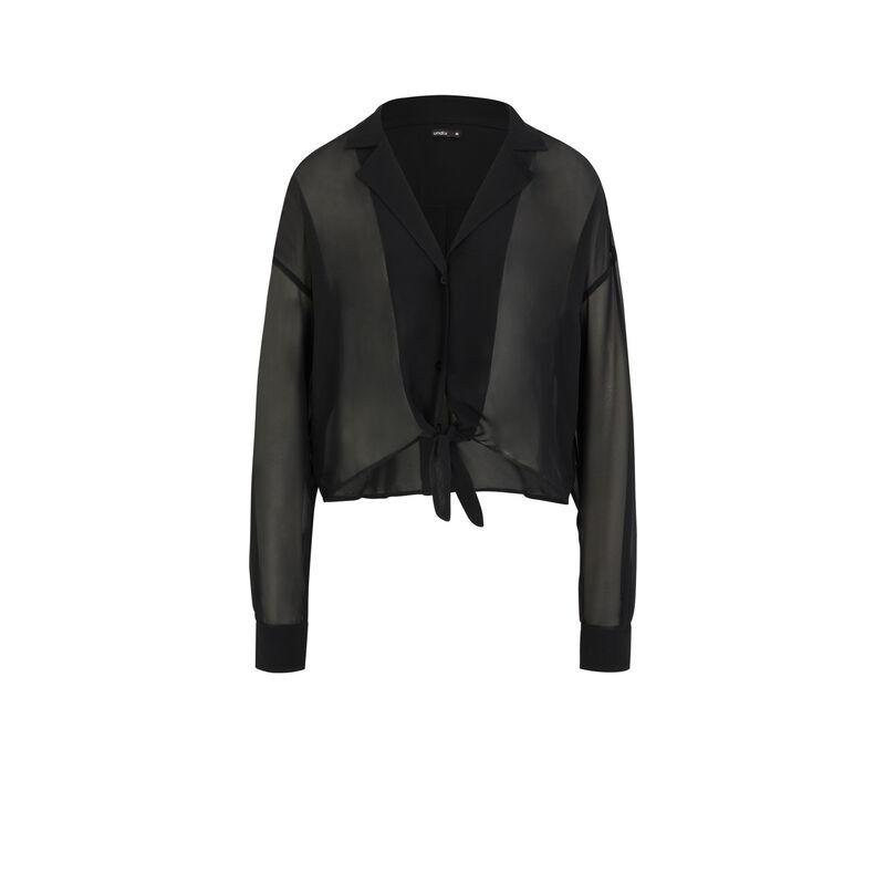Chemise semi-transparente - noir;