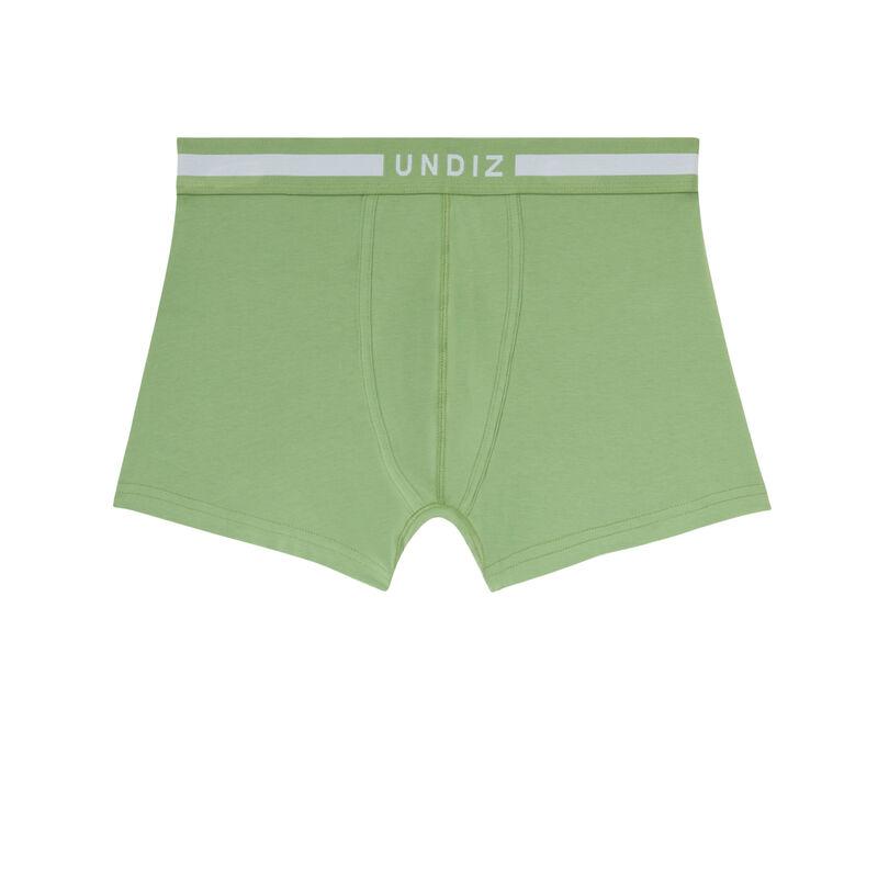 boxer uni en coton - vert;