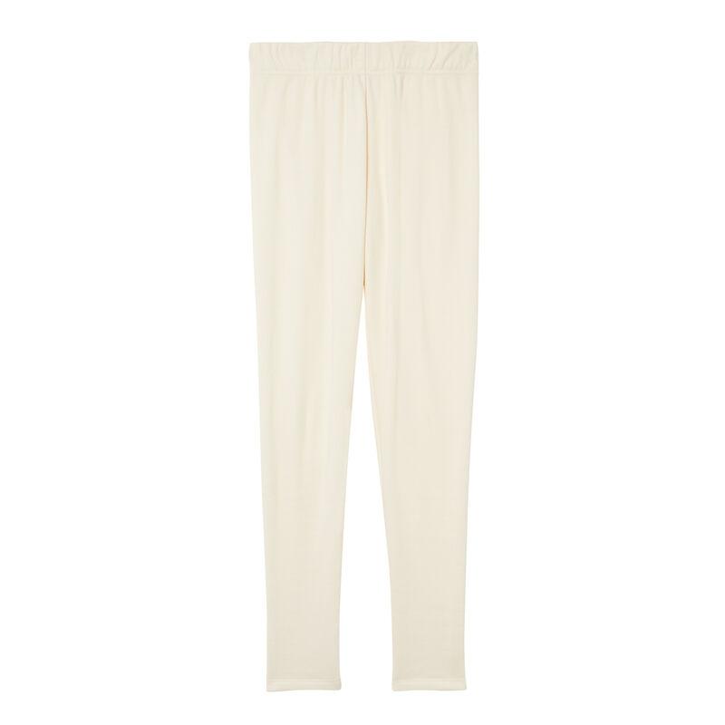 legging fourré - blanc cassé;