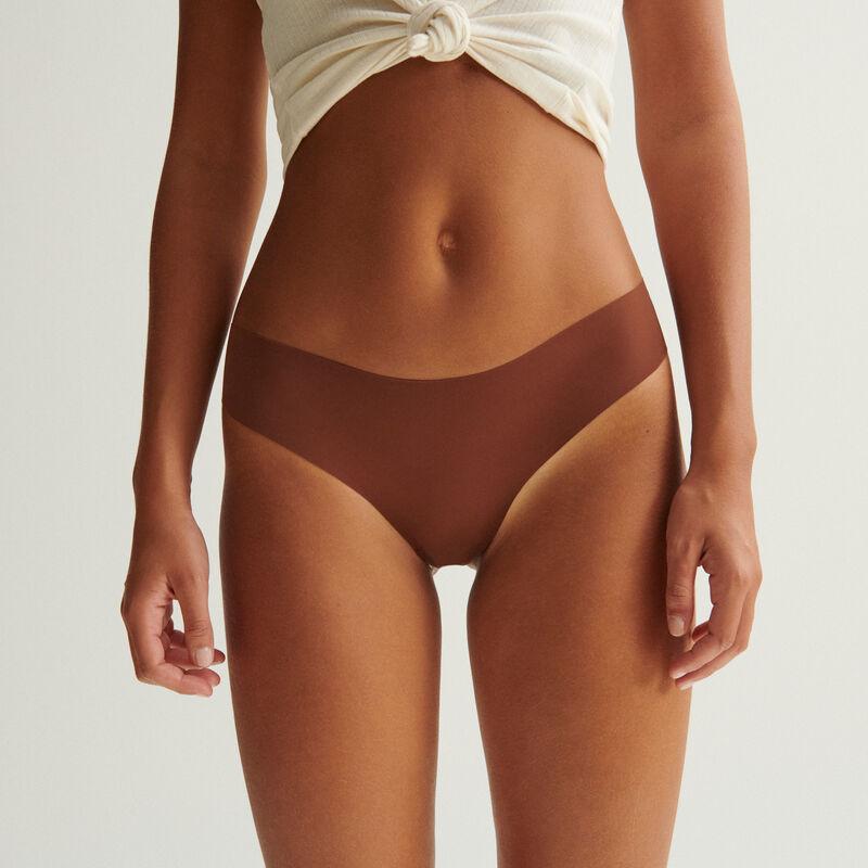 culotte en micro - marron;