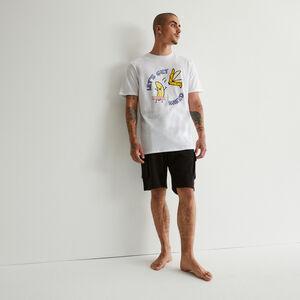 set de pyjama à imprimé banane - blanc