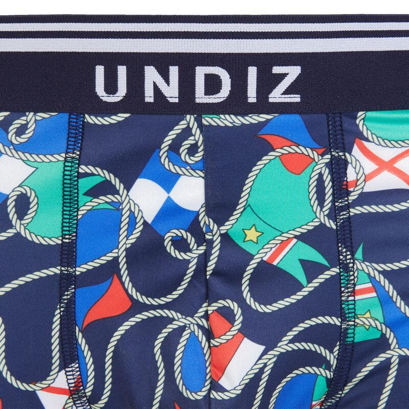 Boxer en micro imprimés chaines - bleu marine;