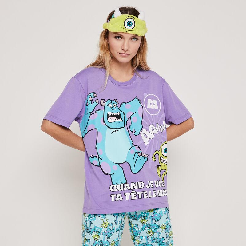 Set pyjama top + pantalon print Monstres et Cie mycrewiz;