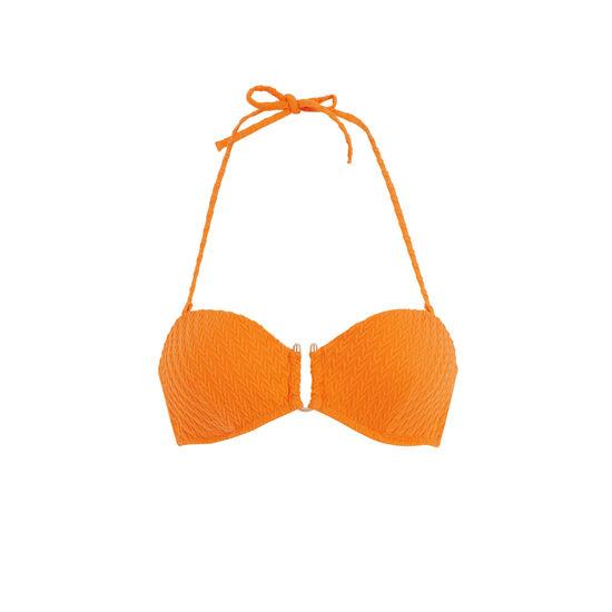 Haut de maillot de bain bandeau orange funbraidiz;