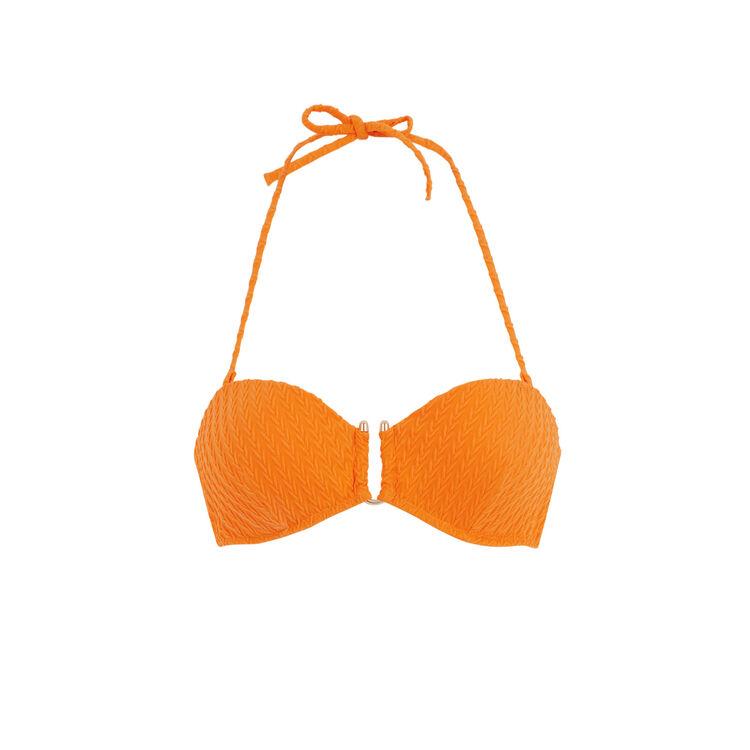 Haut de maillot de bain bandeau orange funbraidiz orange.