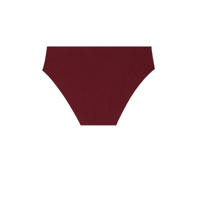 shorty en coton uni - bordeaux;
