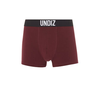 Boxer coton bordeau mycandiz red.