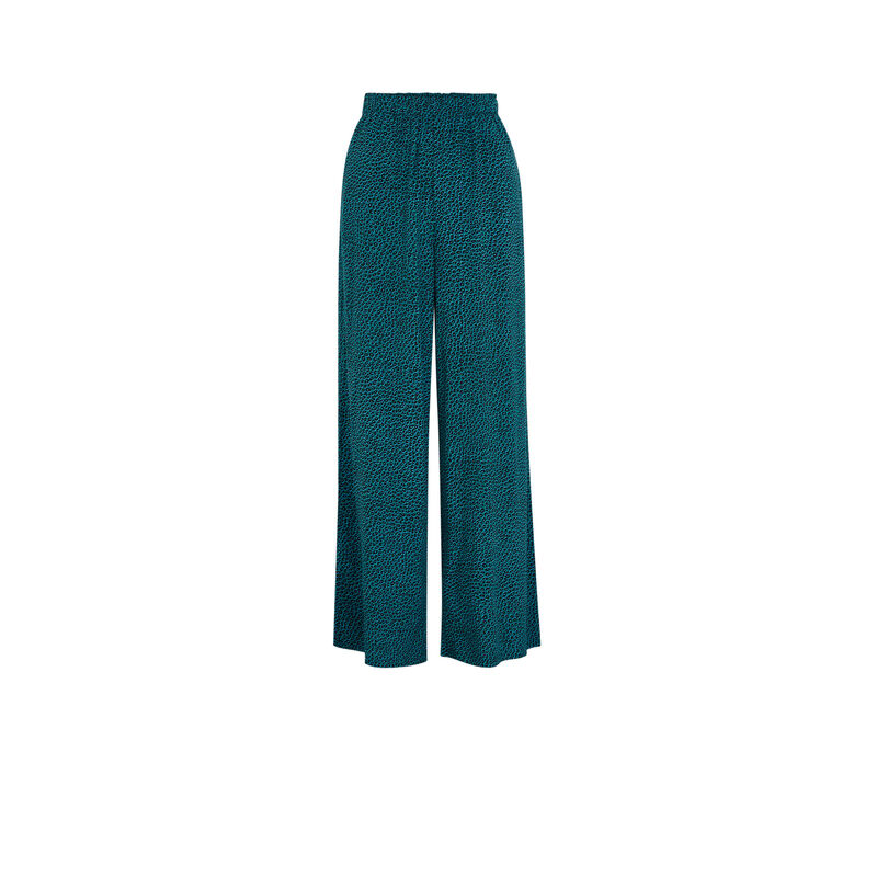 Pantalon imprimé animal - bleu;