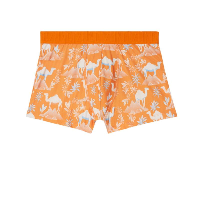 boxer imprimé désert - orange;