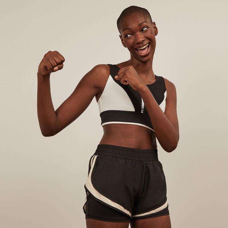 Short de sport - noir ;