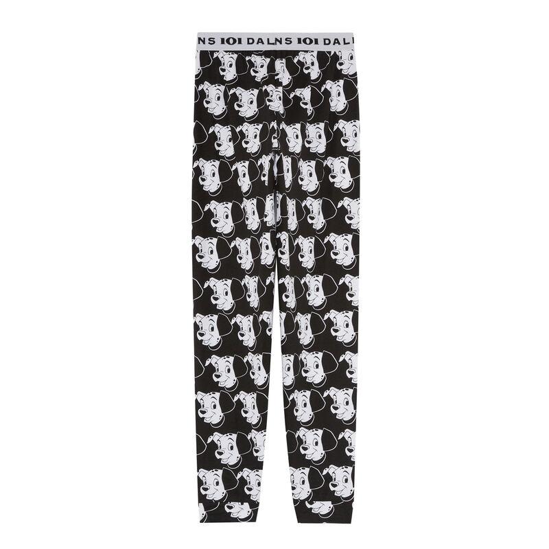 pantalon à motifs les 101 Dalmatiens - noir;