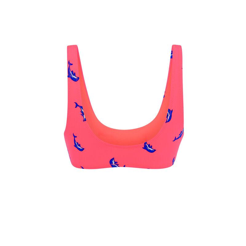 Haut de maillot de bain rose fluo flipperiz;