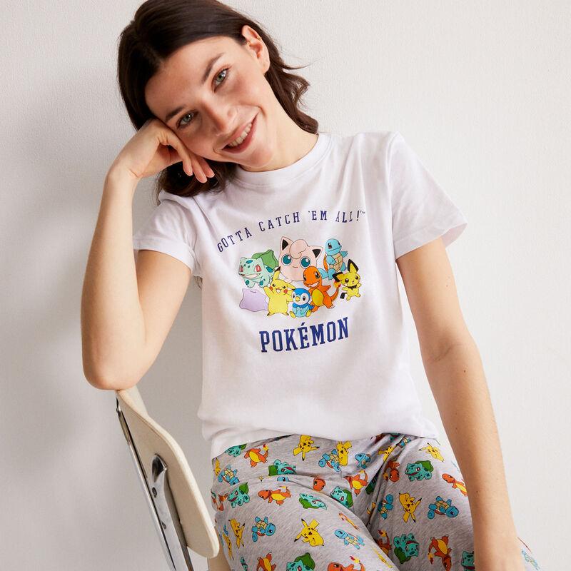 top à imprimé Pokémon - blanc;