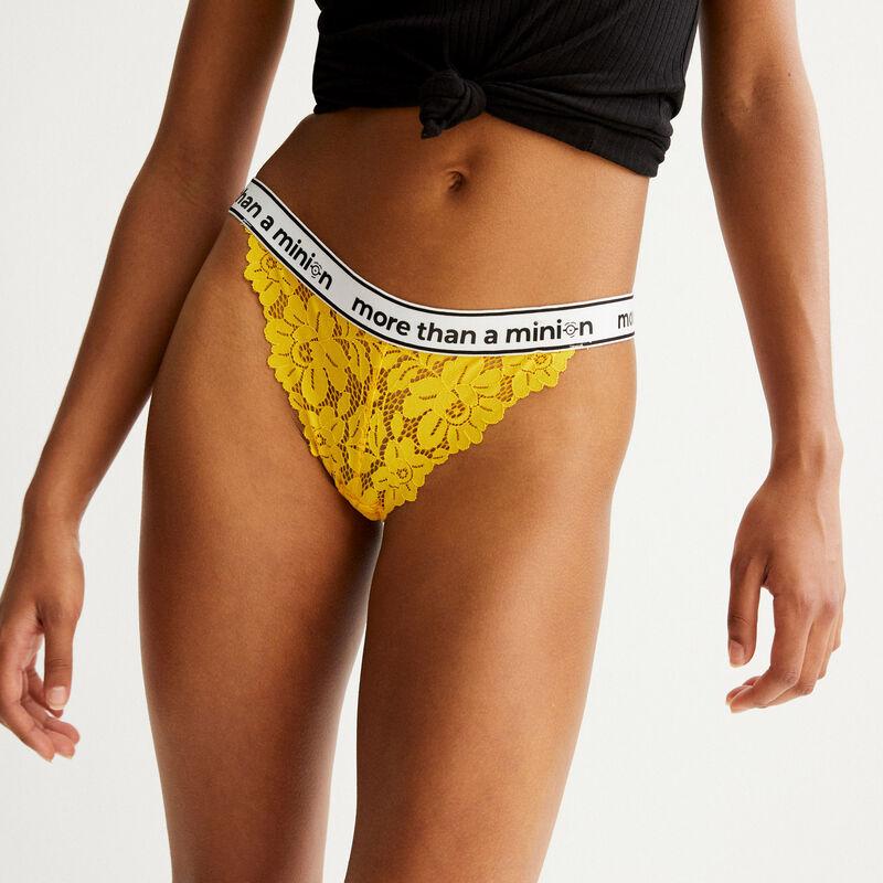 culotte à élastique more than a minion - jaune;