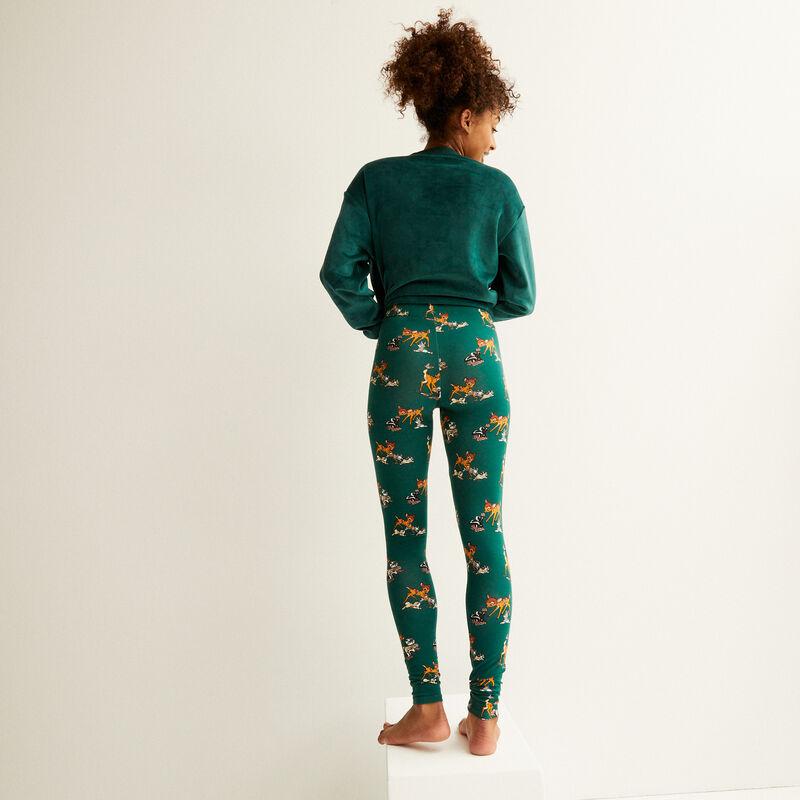 legging à motifs bambi - sapin;