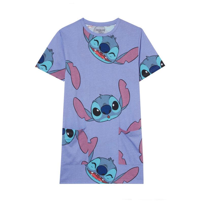 tunique à motifs Stitch - bleu;