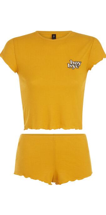 Ensemble de pyjama jaune moutarde lettuciz yellow.